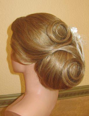 Hochzeitsfrisur langes Haar